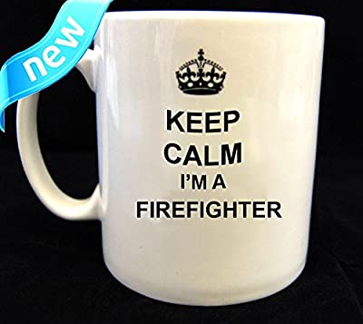 Keep Calm and Carry On Feuerwehrmann Tasse