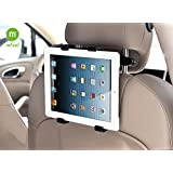 MFEEL Car Back Seat Headrest Mount Holder with 360 Degree Adjustable Rotating Travel Kit for Apple iPad 2, iPad 3, iPad 4, iPad Air, iPad Mini, iPad Mini2, iPad Mini3, Galaxy Note 10.1 - Black
