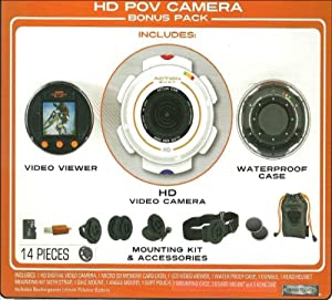 Action Shot HD POV Camera Bonus Pack (Includes HD Video Camera, Viewer, Case, Memory Card, and Mounting Kit)