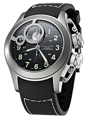 Hamilton Men's H77746333 Frogman Black Dial Watch