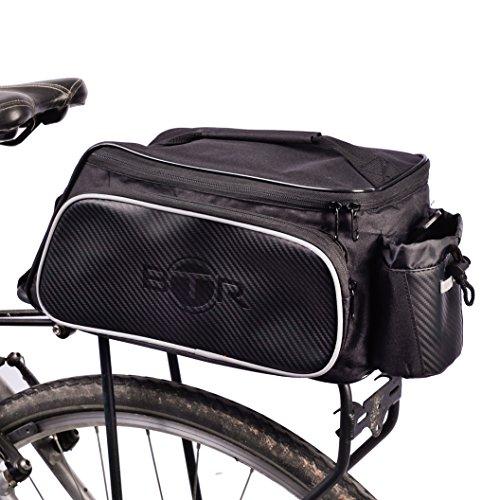 Wasserabweisende-BTR-Gepcktrgertasche-Fahrradtasche-oder-Rahmentasche-schwarz