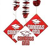 Red Grad Dangling Cutout