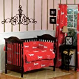 NEBRASKA Huskers CRIB SET with CURTAINS - 9 Pc Set