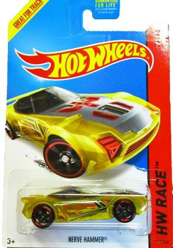 Hot Wheels - 2014 HW Race 176/250 - X-Raycers - Nerve Hammer (Yellow) - 1
