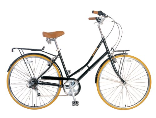 City Bike , Commuting bicycle 700C , Black , Women's by Biria