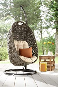 Destiny cocoon fauteuil de jardin suspendu avec coussin - Fauteuil suspendu cocoon ...