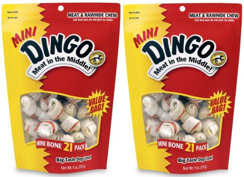 Dingo Mini Bones 21-Pack Value Bag,