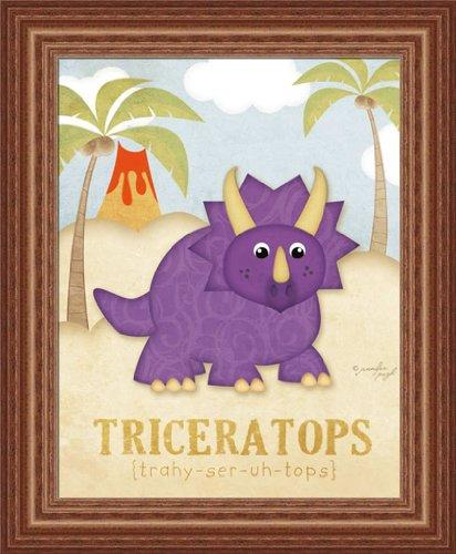 Triceratops Kids Room Décor Dinosaur 14X17 Framed Art Print Picture By Jennifer Pugh front-781727