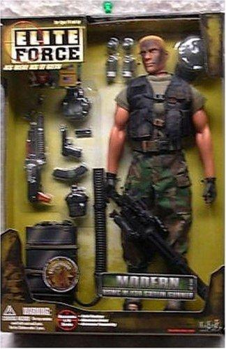 Buy Low Price Blue Box Elite Force Modern Military Figure: USMC M-134 Gatlin Gunner (B000BSZ0OC)