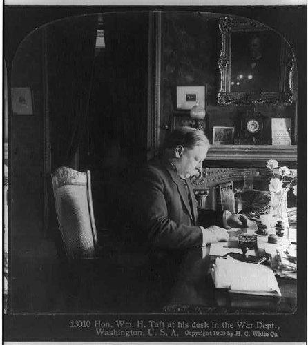 Photo: William Howard Taft,half length,right profile 'at his desk in War Dept' (William Howard Taft Profiles Of compare prices)