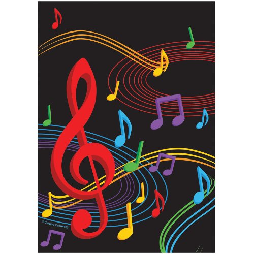 Dancing Music Notes Loot Bags (8) Treat Favor Sack Birthday Dance Party Supply
