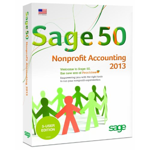 Sage 50 Premium Accounting for Non-Profits 2013 5-Users [Old Version] (Old Sage compare prices)