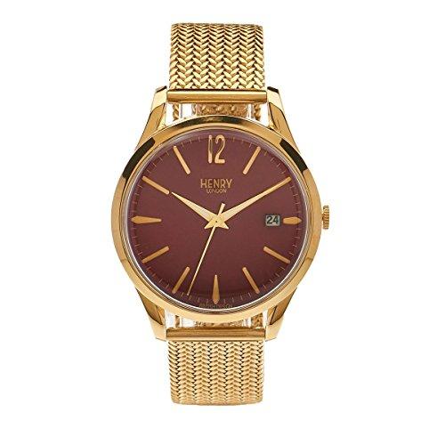 Henry London Unisex-Armbanduhr Holborn Analog Quarz Edelstahl HL39 - M-0062