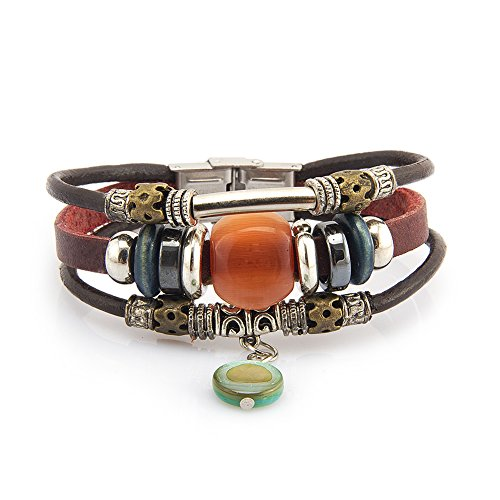 fairy-couple-multi-bracelets-en-cuir-antique-perle-jade-l199