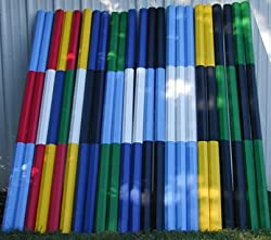 2-Stripe Colored 12ft Rails/Poles Wood Horse Jumps