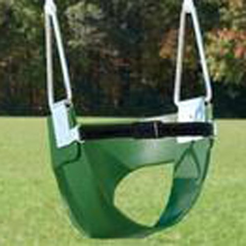 Belted Half-Bucket Toddler Swing (No Chain or Rope) - Green-image