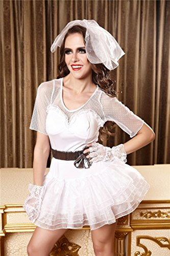 MeMoreCool Halloween Bride Cosplay Costumes Sexy Lingerie Nightclub Stage Performance Clothes White Bride Uniforms
