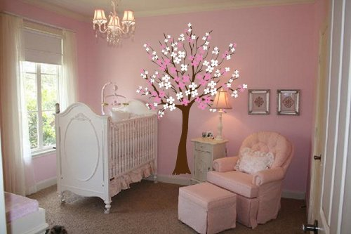 Blossom Tree Extra Large Wall Decal Japanese Cherry Blossom: Japanese Sakura Cherry Blossom Bedding