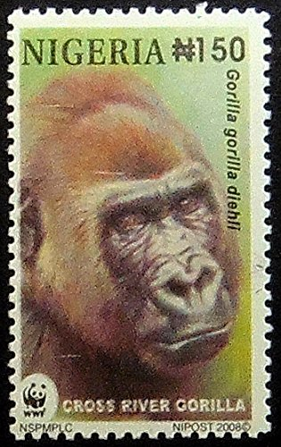 Cross River Gorilla -Handmade Framed Postage Stamp Art 0819