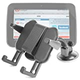 DURAGADGET Car Expandable Headrest And Tray Cradle Mount With Adjustable Arms For Tesco Hudl 7 Inch 7 HD Wi-Fi 16GB Android 4.2.2 Jelly Bean Tablet PC & Bush MyTablet & Bush MyTablet 2