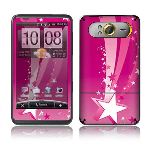 Pink Stars Decorative Skin Cover Decal Sticker for HTC HD7 Cell Phone