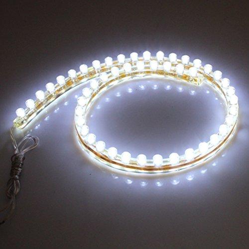 2 Pièces Blanc 48 a mené la lumière de la lampe Bande Imperméable 48cm pour Voiture Véhicule