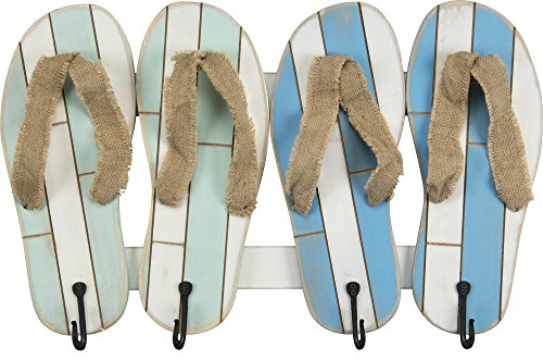 Flip-Flop-Beach-Lake-Pool-Style-Towel-Coat-Hook-Hanger-Board