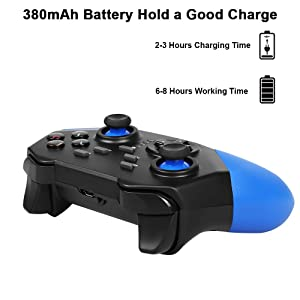 Mobile Game Controller, PowerLead PG8721 Wireless Turbo Combo Key Mapping Mobile Gamepad Compatible with iOS Android iPad Tablet (Color: 8721 Blue)