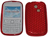 For Samsung Ch@t 335 T335 S3350 Diamond Patterned Protective Silicone Gel Case Cover Pouch TPU. (Blood Red)