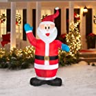 7 Ft Tall Small Santa Clause Inflatable Christmas Electric lighted Yard Decor