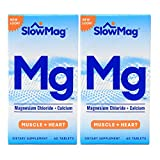 SlowMag Magnesium Chloride with Calcium Tablets, 60 Count (Pack of 2), Dietary Supplement with Magnesium Chloride and Calcium for Daily Use