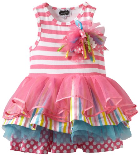 Mud Pie Little Girls' Tiered Birthday Party Tutu Dress, Multi, 3T