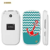 Spots8® for LG True B460, Glossy Image Graphic Design 2 Piece Snap-On Slim Fit Hard Protective Case Cover [Red Anchor on Chevron]