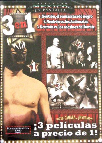 Neutron el enmascarado negro / Neutron vs Los Automatas / Neutron vs Los Asesinos del Karate [NTSC/REGION 1 & 4 DVD. Import-Latin America]
