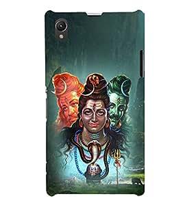 Shiva Illustration 3D Hard Polycarbonate Designer Back Case Cover for Sony Xperia Z1 :: Sony Xperia Z1 L39h