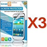 CoverON® 3 PACK CLEAR ANTI-GLARE LCD Screen Protector Shield for ZTE Z990 AVAIL / 990G MERIT [WCM85]