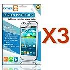 CoverON(TM) 3 PACK CLEAR LCD Screen Protector Shield for LG L35G OPTIMUS LOGIC / OPTIMUS L3 E400 / L38C DYNAMIC [WCS662]