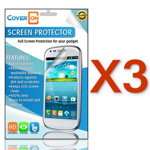 Coveron® 3 Pack Transparent Lcd Clear Screen Protector Shield For Blackberry Q5