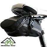 Fahrrad Satteltasche / Fahrradtasche für Handy, Werkzeug und Portmonnaie. Geeignet für Mountainbike und Trekkingbike. Gut für Kinder / Bike Bag for your Phone & Tools, great for Travel, Geld-zurück-GARANTIE, by PRO-BICYCLE TOOLS®