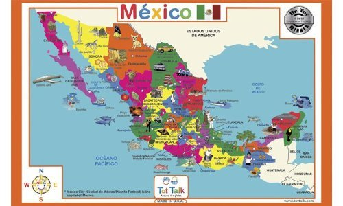 Mexico Geography Placemat - 1