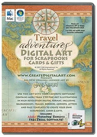 Travel Adventures Digital Art Cd Plus Video Tutorial