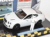 Bentley Continental GT SupeRSports Coupe Weiss 2009 TopGear 1/43 Minichamps Modell Auto mit individiuellem Wunschkennzeichen