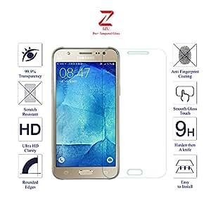 Samsung Galaxy J5 Glass Screen Protector Tempered Glass-Pack of 1 , IZU® Pro Tempered Glass Ballistics Glass, 99% Touch-screen Accurate, Anti-Scratch, Anti-Fingerprint, Round Edge [0.3mm] Ultra-clear - Retail Packaging