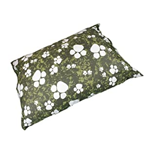 Linens Limited Paws Flat Dog Pet Bed, Green, Extra Large
