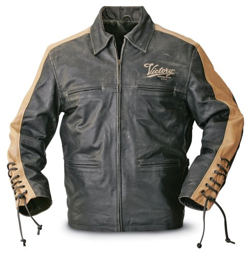 Buy Victory Santa Fe Leather Jacket Black / Tan