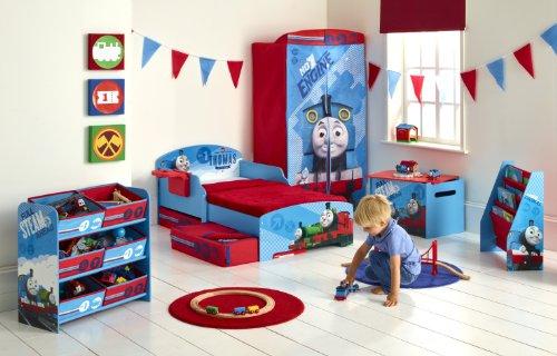 Thomas Le Train 864714 Lit avec Rangements Bois Bleu 145 x 77 x 59 cm