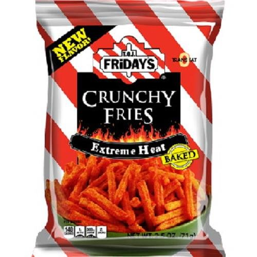 TGI FRIDAY EXTREME HEAT HOT FRIES 2.25 oz Each ( 6 in a Pack ) (Mint Chocolate Chip Gum compare prices)