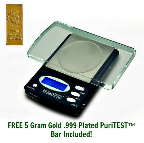 1 New DigiWeigh DIGITAL POCKET SCALE-Gram/Ounce/Carat/Grain-PERFECT FOR Gold/Silver Coin/Jewelry, Diamonds/Gemstones & More!! LIFETIME WARRANTY + Free 5gram Gold Replica Weight Checking Bar