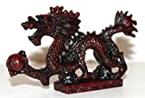 NEW RED Chinese Feng Shui Dragon Figurine Statue for Luck & Success #S