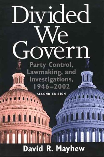 Divided We Govern: Party Control, Lawmaking, and...